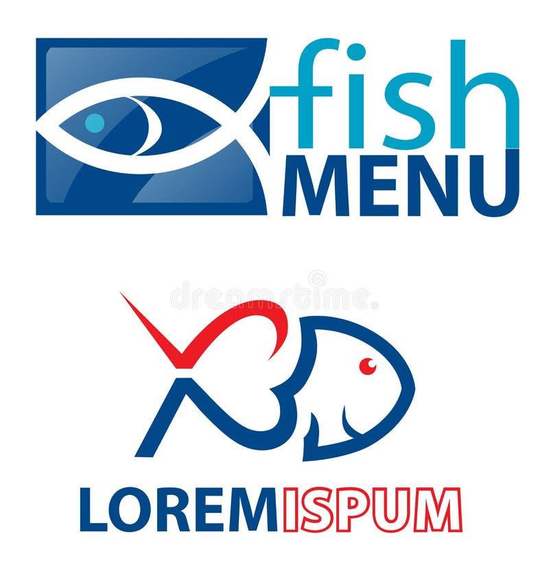 Fischsymbolelement lizenzfreie abbildung