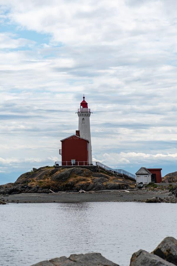 Fisgard Lighthouse bij Fort Rodd royalty-vrije stock foto's
