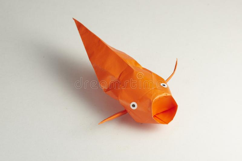 Download Fish stock photo. Image of colour, orange, origami, paper - 24377982