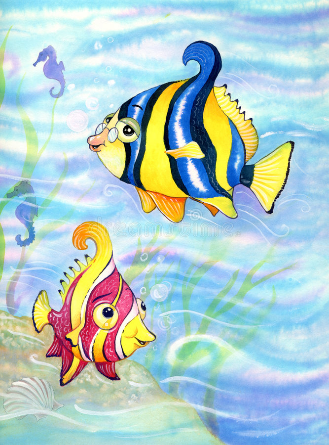 Download Fish stock vector. Image of ocean, horse, illustration - 8545124