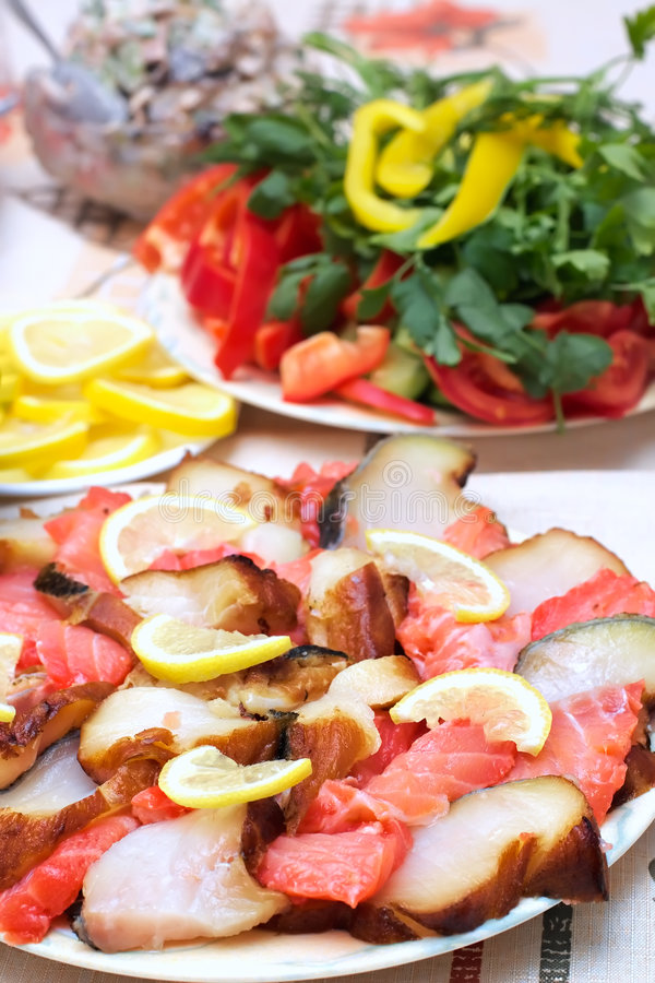 Fish Allsorts From Sturgeon And Salmons Royalty Free Stock Image