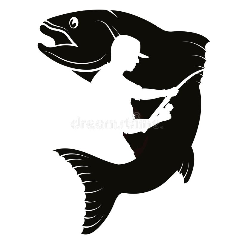 Free Fish And Fisherman Silhouette Stock Images - 141489454