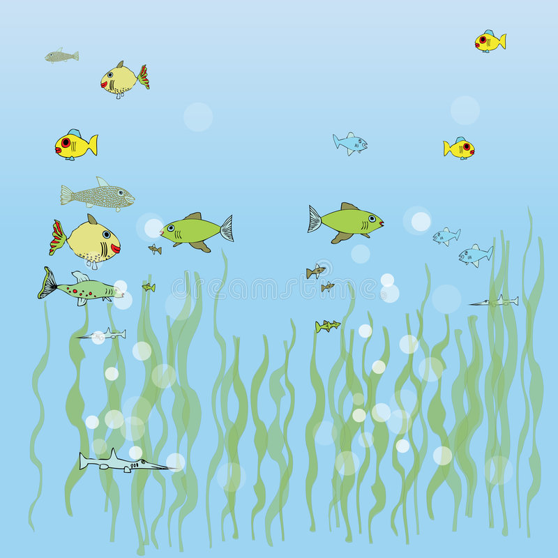 Fish Aquarium royalty free illustration
