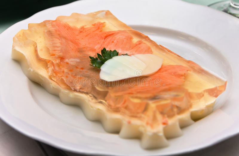 Fish in aspic stock photography