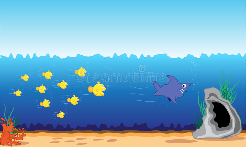Fish attack stock image