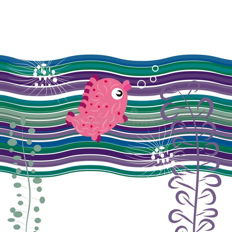 Fish background vector illustration