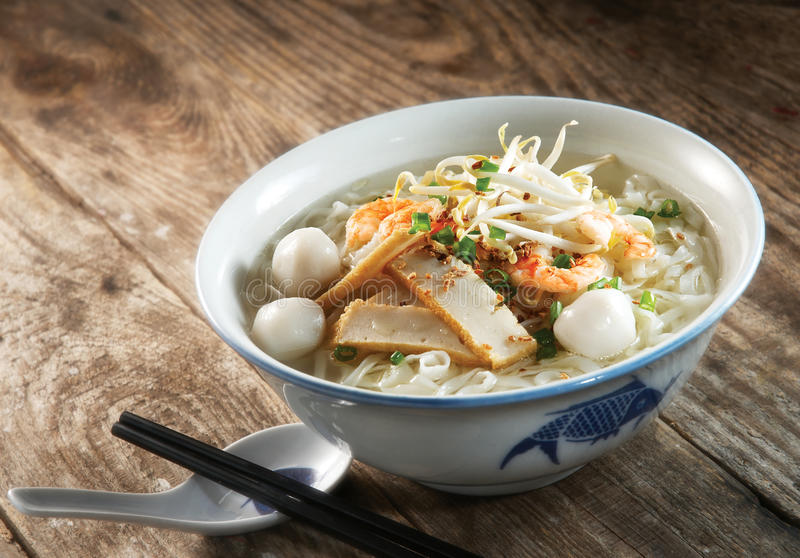 Fish ball noodle soup royalty free stock photography