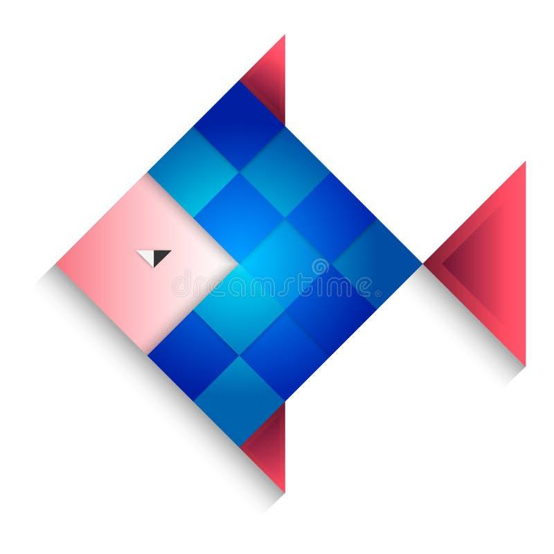 Fish blue. Illustrations cartoon pets vector illustration