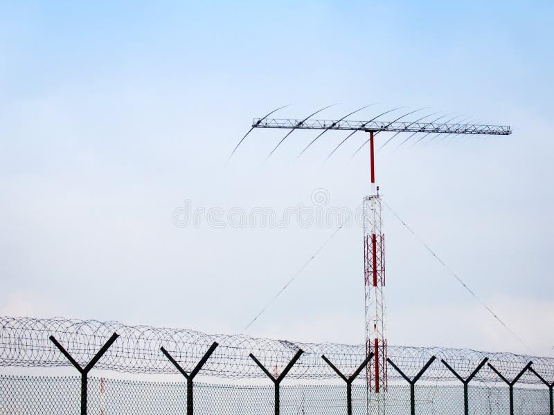 Fish bone antennae and fence stock images