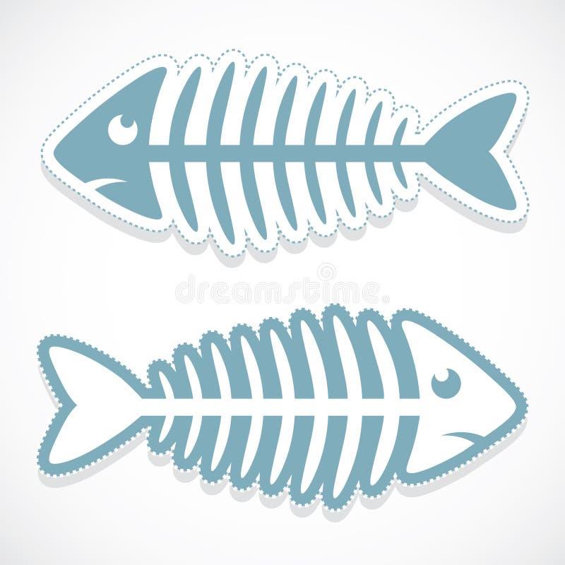 Download Fish bone sticker stock vector. Image of bone, shape - 26692369