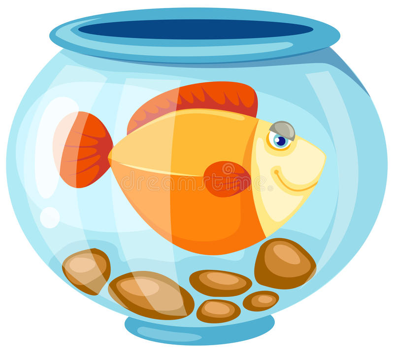 Download Fish bowl stock vector. Image of sketch, cartoon, background - 13583146