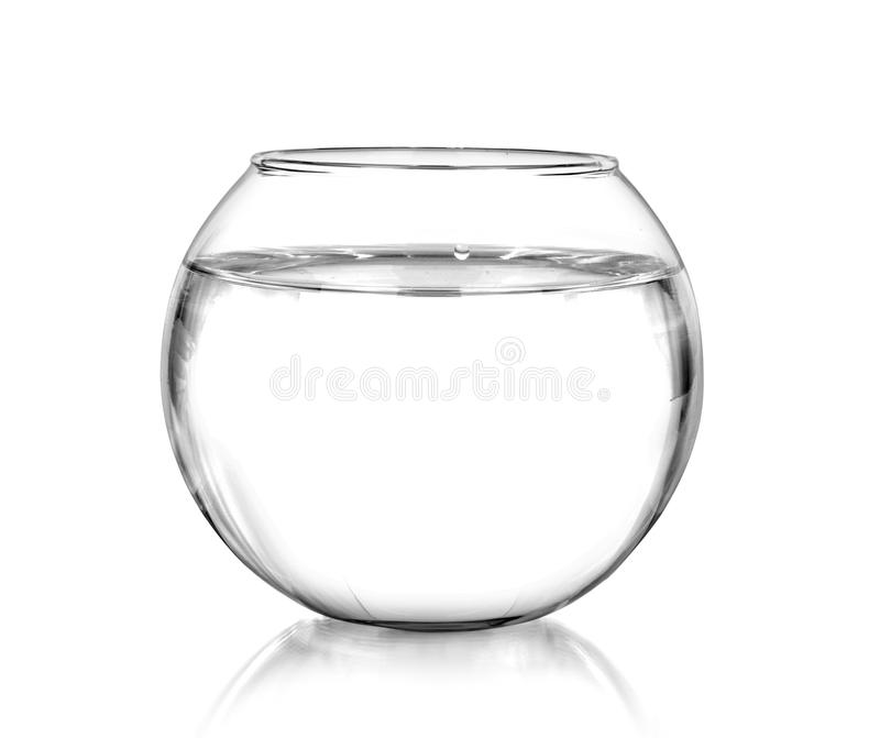 A fish bowl isolated. A fish bowl, isolated on white royalty free stock photography