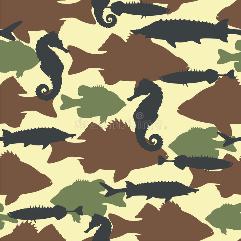 Download Fish Camouflage Seamless Pattern Stock Vector - Illustration: 16658442