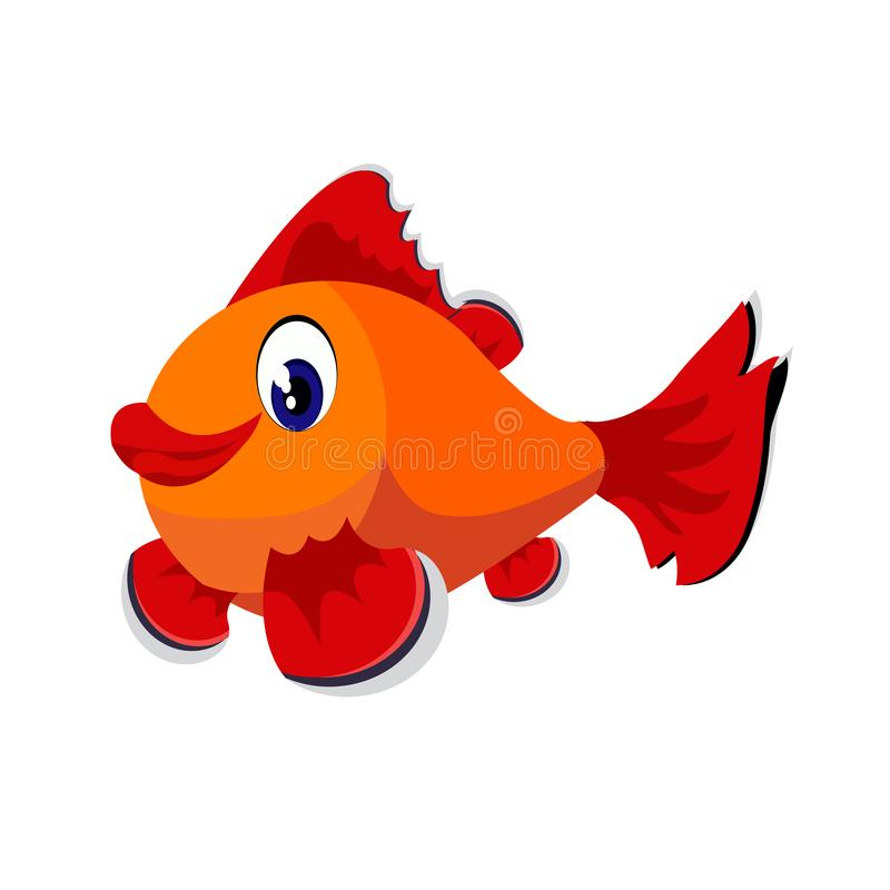 Fish cartoon or fish Clipart cartoon isolated on white background. Illustration stock illustration