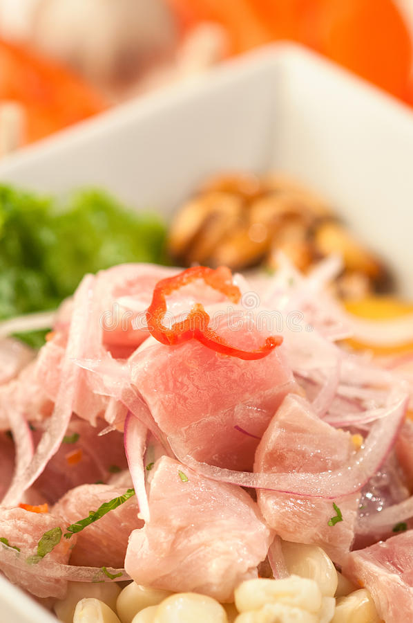 Fish Ceviche, a typical dish from Peru royalty free stock photo