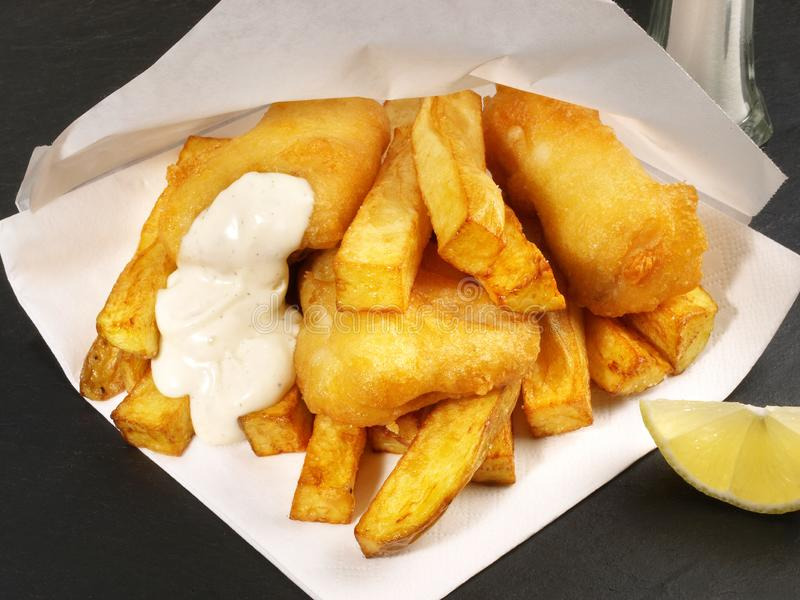 Fish and Chips. Homemade Fish and Chips with Lime stock photos