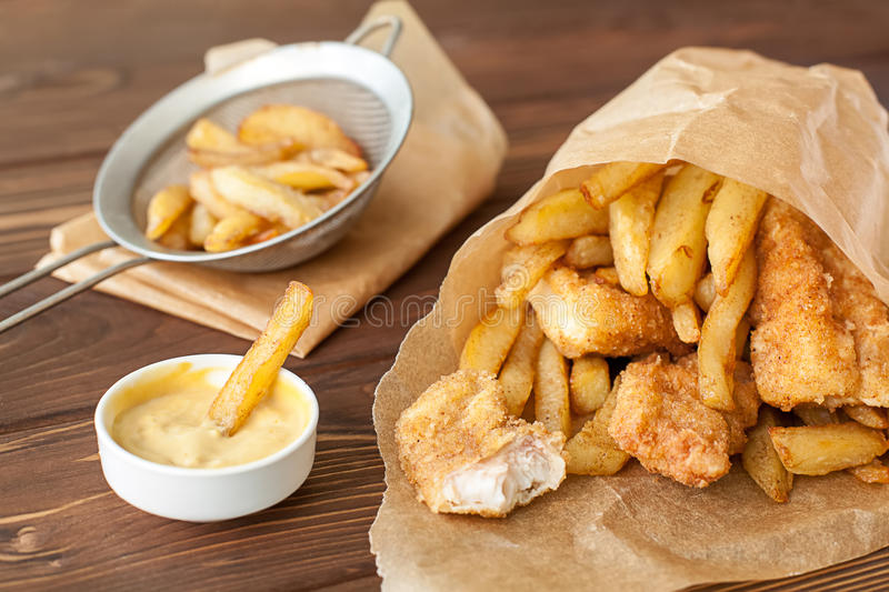 Fish and chips fast food royalty free stock photography