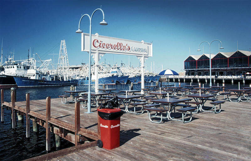 Fish & Chips, Fishing Boat Harbour Fremantle royalty free stock photos