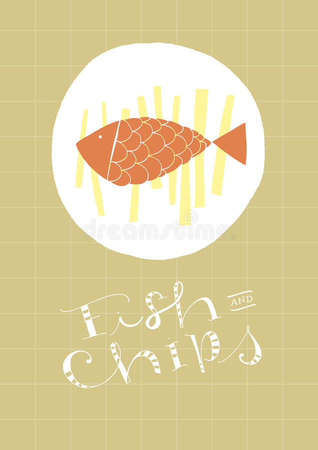 Fish and chips stock photo