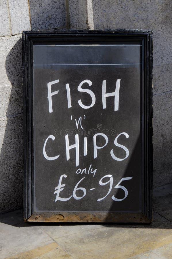 Fish & Chips menu stock images