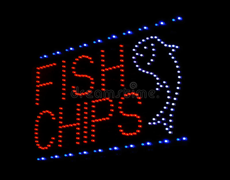 Fish and chips sign royalty free stock photos