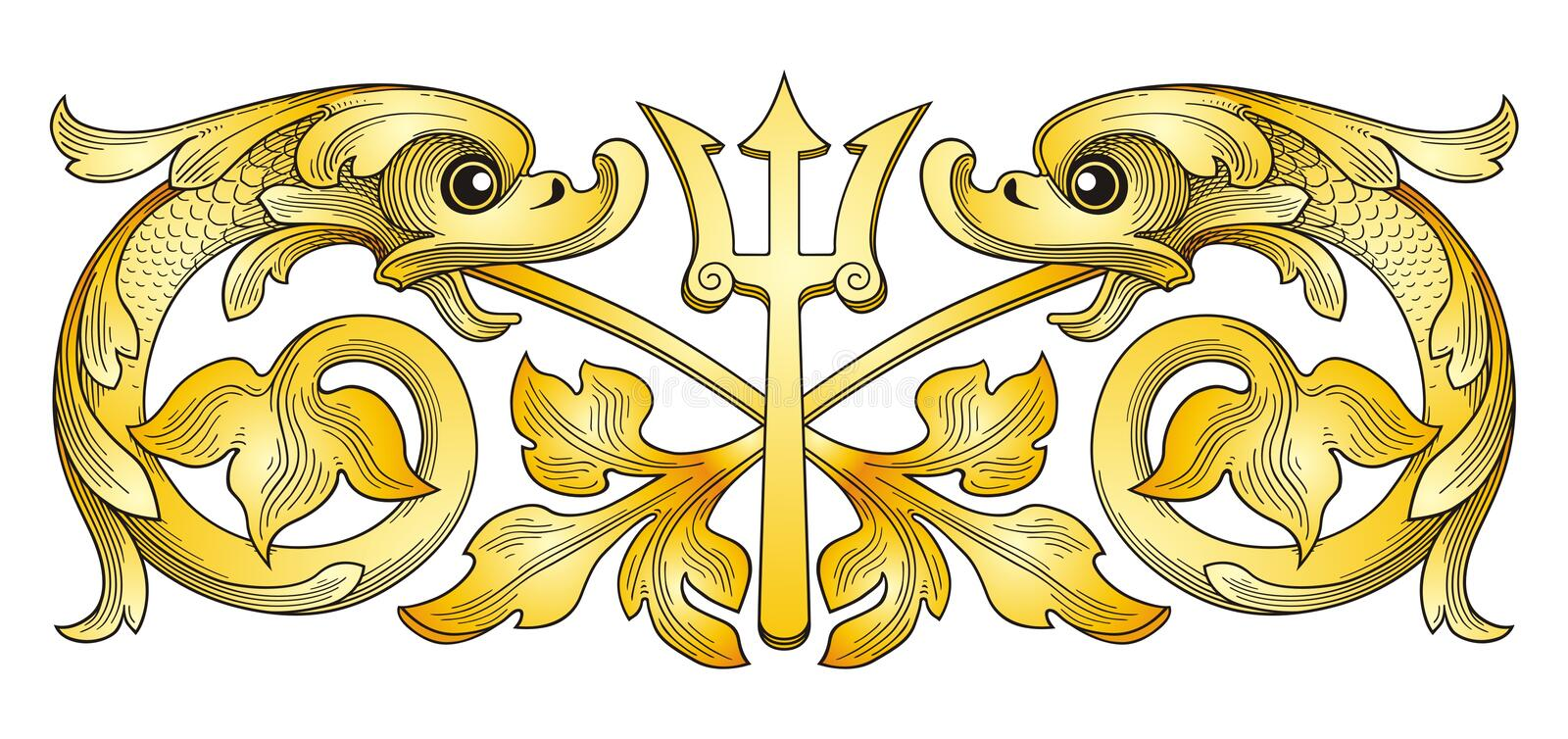 Fish Coat Of Arms Stock Images