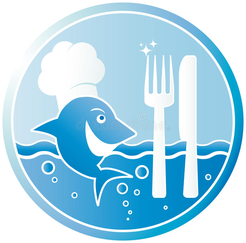 Fish the cook vector illustration