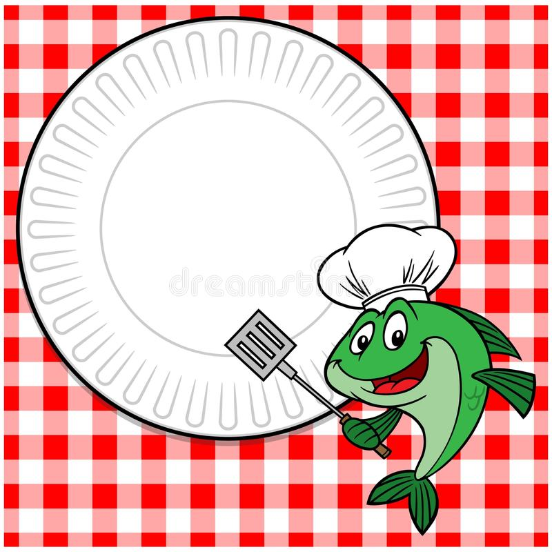 Fish Cookout Invite. A vector illustration of a Fish Cookout Invite royalty free illustration