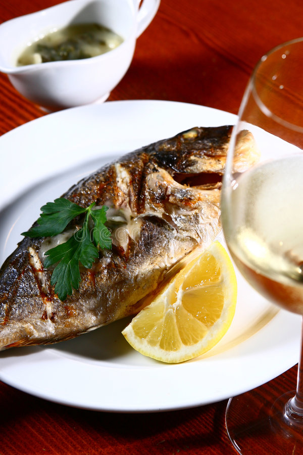 Fish course stock photography