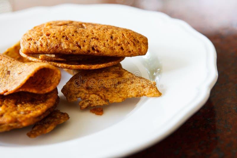 Fish Crispy. Crispy made from fish on white dish stock image