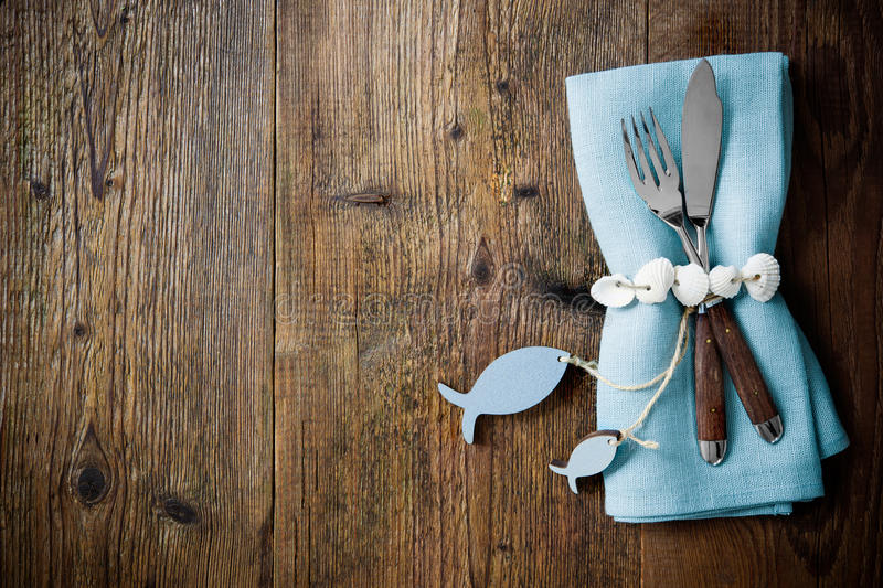 Download Fish Cutlery Tied With Empty Fish Shaped Tag Stock Image   Image  Of Cloth,