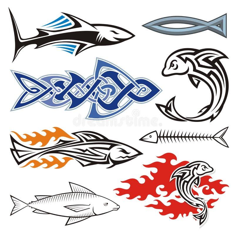 Download Fish design stock vector. Image of aggressive, fishbone - 34207049