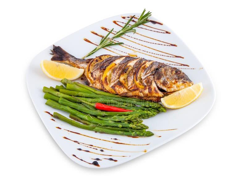 Fish dish. stock images
