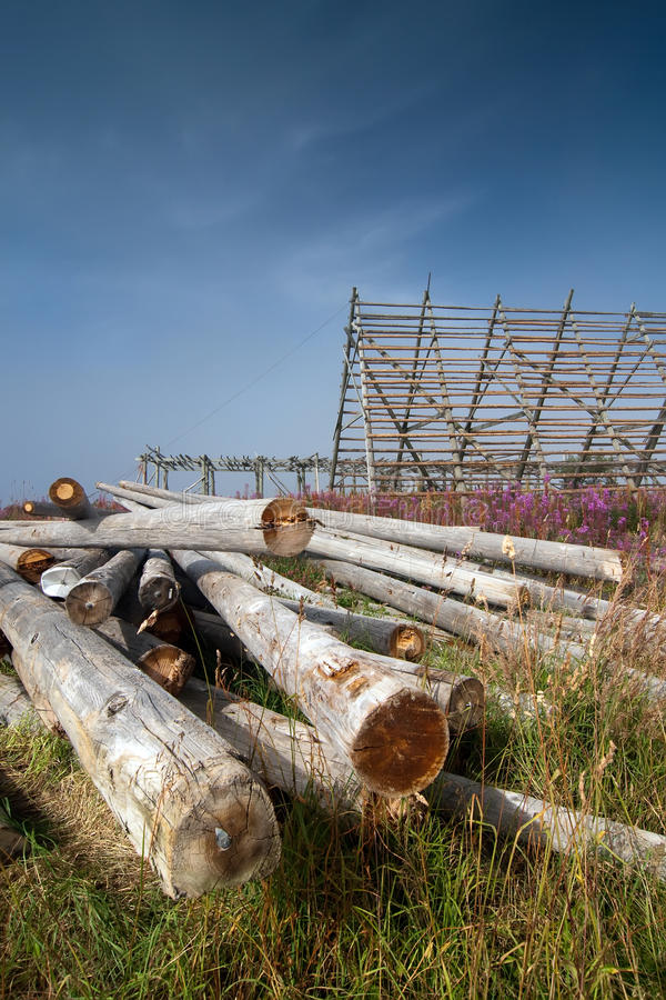 Download Fish-drying Racks Royalty Free Stock Photography - Image: 10996637
