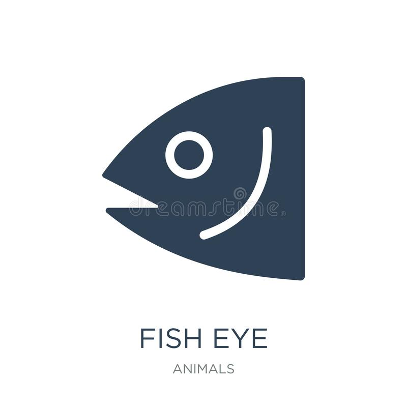 Fish eye icon in trendy design style. fish eye icon isolated on white background. fish eye vector icon simple and modern flat. Symbol for web site, mobile, logo royalty free illustration