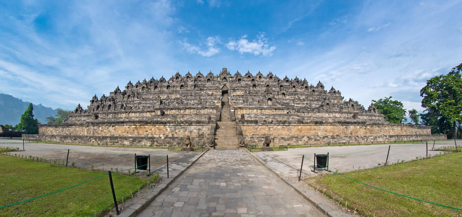 Download Fish-eye View Of Ancient Borobudur Temple Stock Image - Image: 23480471