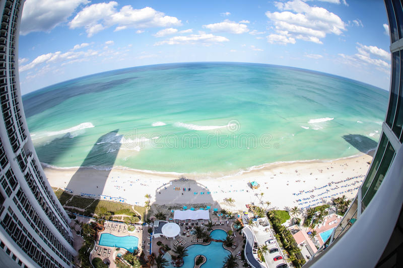Download Fish-eye View Of Miami Beach Stock Photo - Image: 25156150