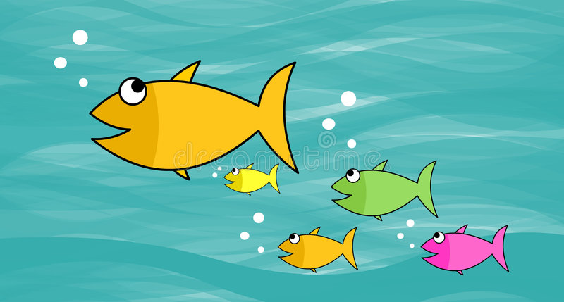 Download Fish Family stock illustration. Illustration of bubbles - 498519