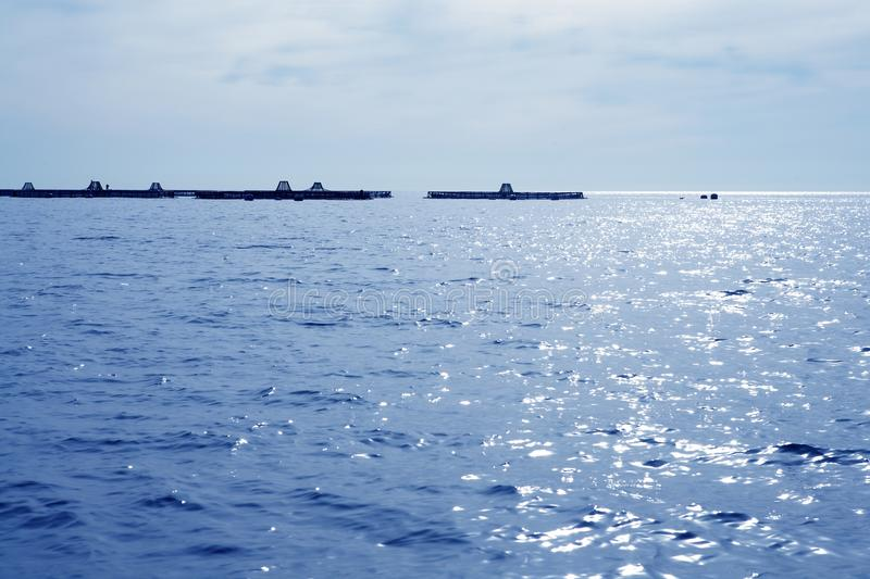 Download Fish Farm View In Blue Mediterranean Sea Stock Images - Image: 15917654