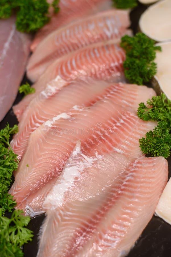 Fish fillet. In market from bangkok, Thailand royalty free stock photos