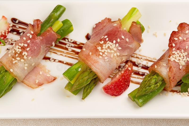 Fish fillet rolls royalty free stock image