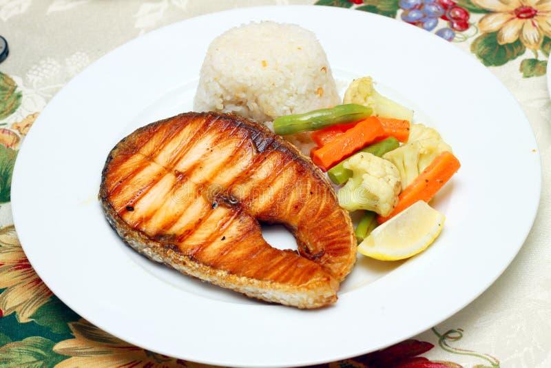 Fish fillet stake royalty free stock images