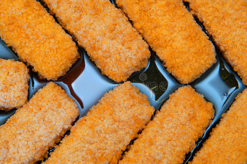 Fish fingers royalty free stock image