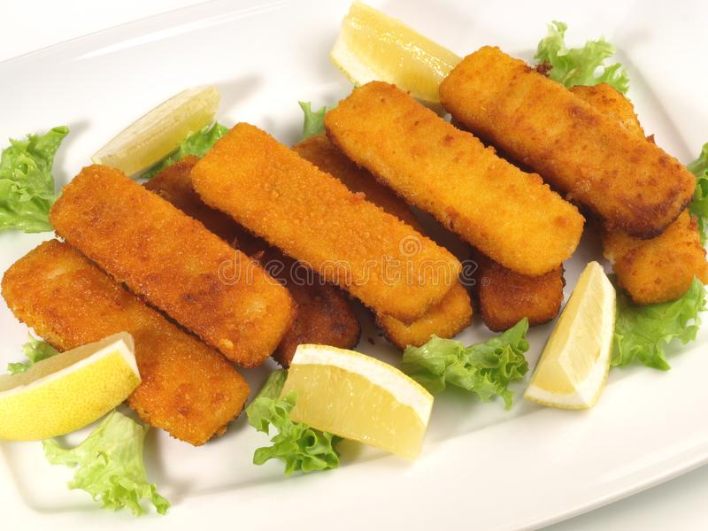 Fish Fingers Plate royalty free stock photos