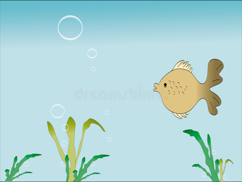 Fish and float grass royalty free illustration