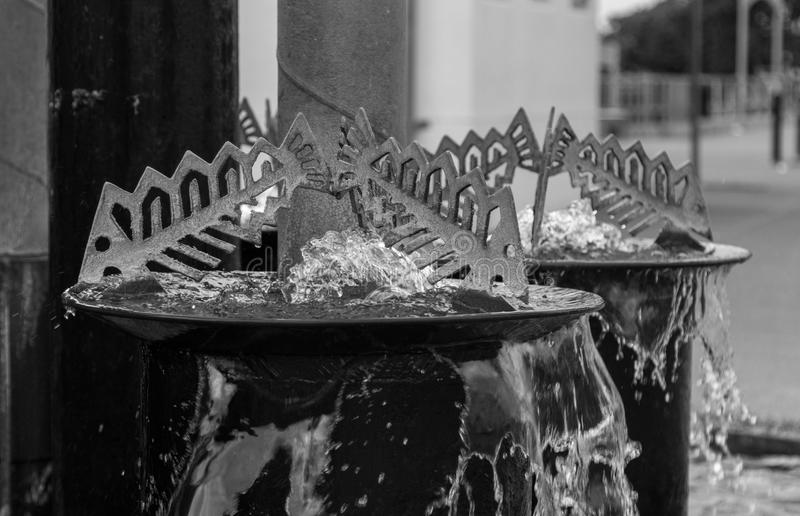 Fish Fountain. Over flowing water fish fountain fond in Napier City, New Zealand royalty free stock photography