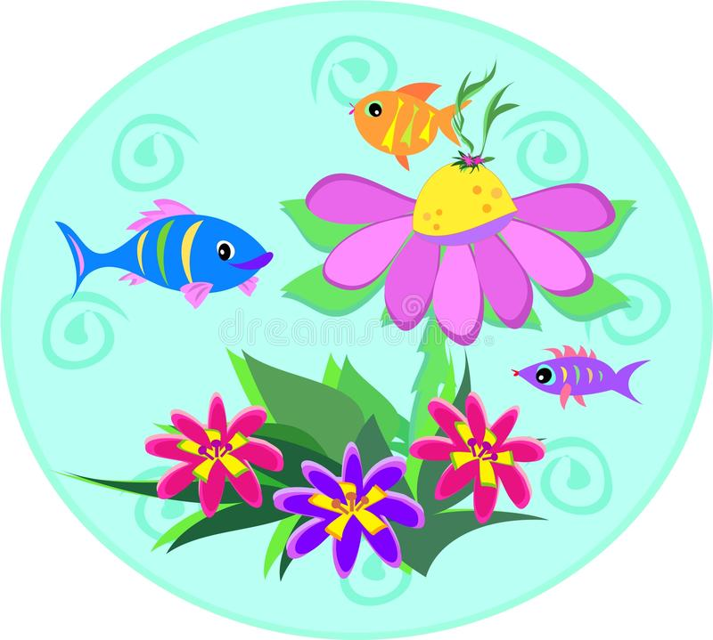 Fish Globe with Spirals and Plants