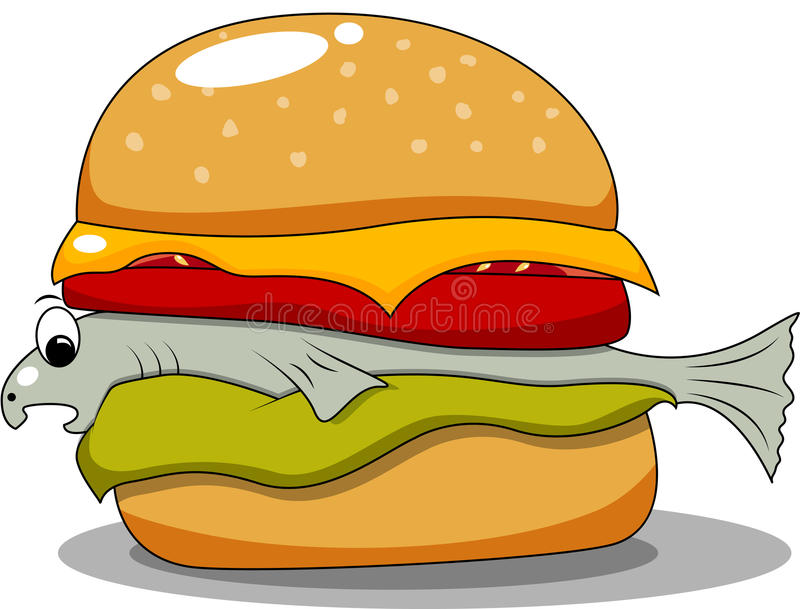 Download Fish hamburger stock vector. Image of tomato, background - 20449611