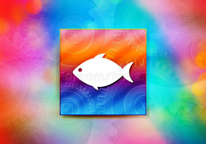 Fish icon abstract colorful background bokeh design illustration vector illustration