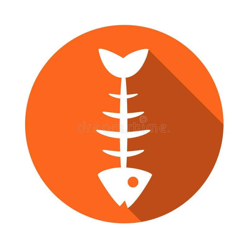Download Fish Icon . The Icon Of The Fish Bones. Fish Skeleton Icon. Fishing Icon Stock Illustration - Illustration of fishing, bones: 85495391